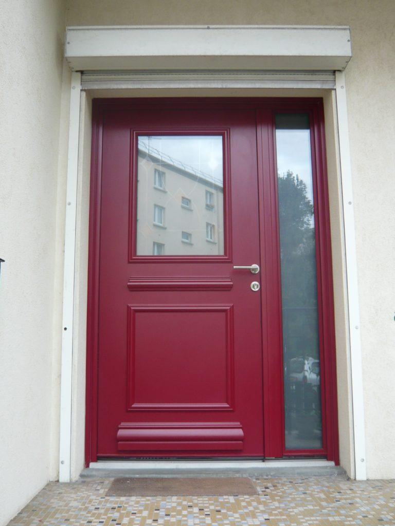 Porte D Entrée Rouge la porte d'entrée en aluminium - weisz