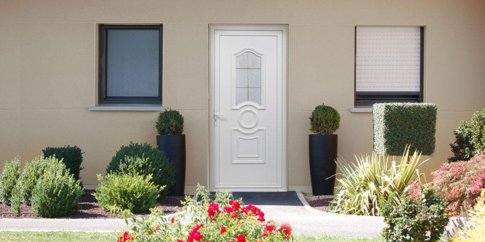 Porte d'entrée PVC _ 1 vantail _ Porte de style _Weisz