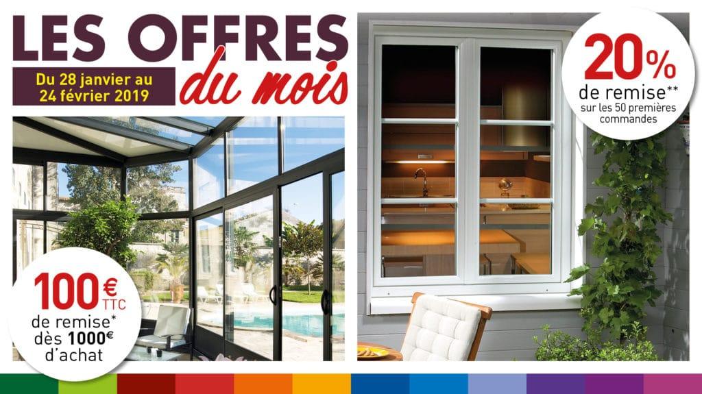 OFFRES FEVRIER 2019 - véranda - pergola - fenêtre - volet - porte de garage - portail - store - abri - Weisz
