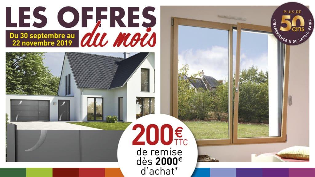 Les offres du mois octobre novembre 2019 - 200€ par tranche de 200O€* - Weisz