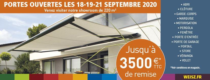 Portes ouvertes weisz - 18 19 et 21 septembre 2020