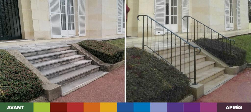 Réalisation Weisz à Sceaux - Avant-Après Installation de garde-corps extérieur pour escalier