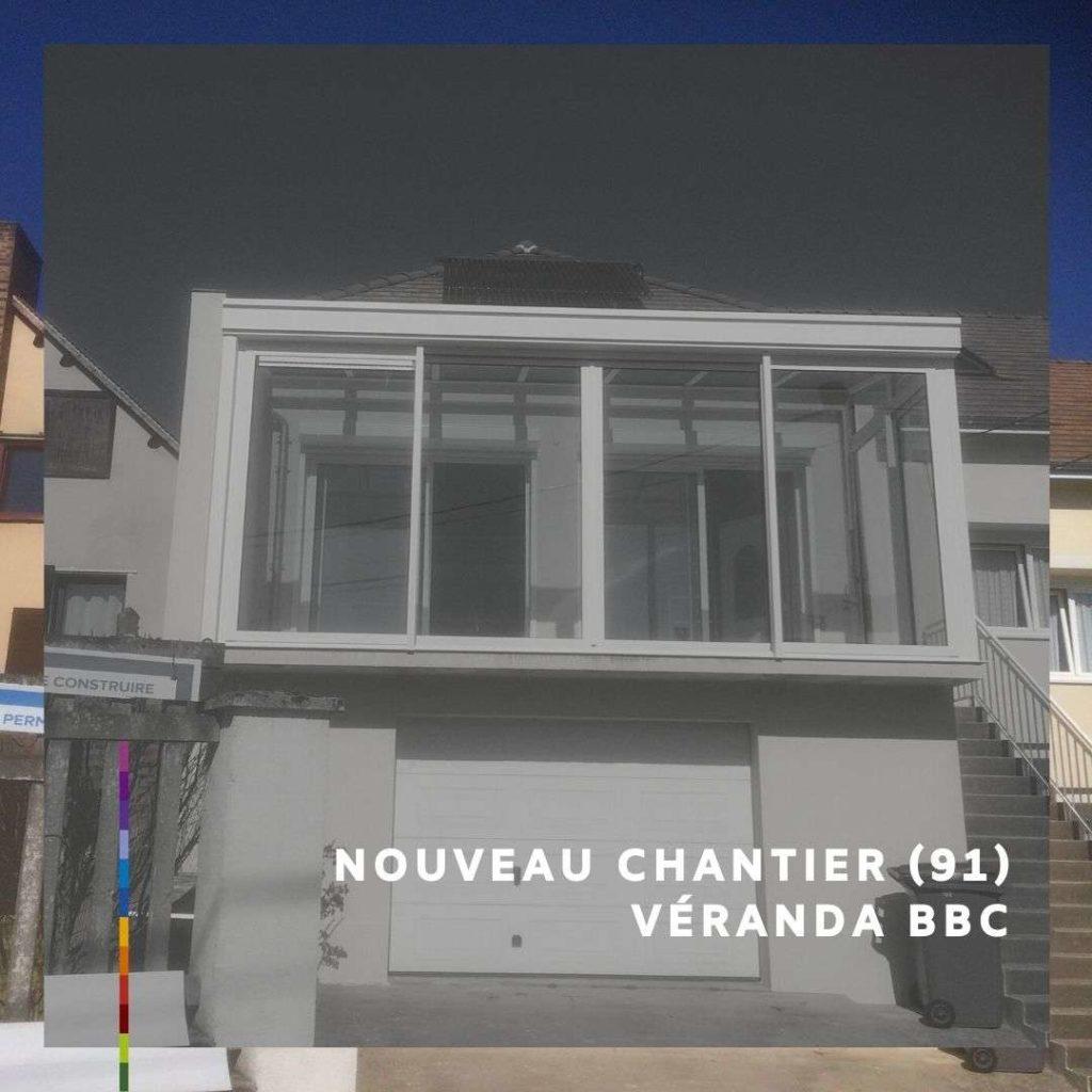 Pose d'une véranda BBC à Bures-sur-Yvette